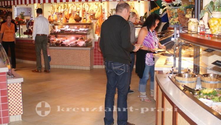Marktstände des Markt Restaurants