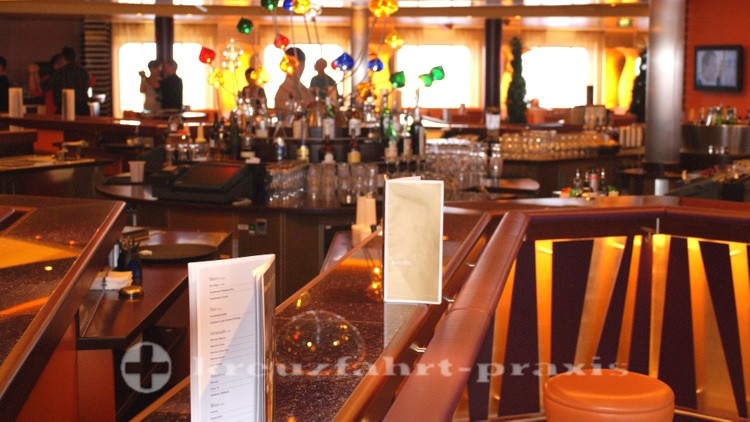 Tresen der AIDA Bar