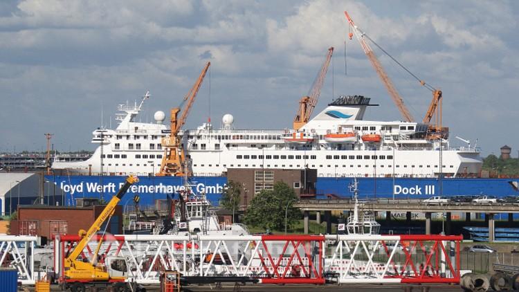 Lloyd Werft Bremerhaven - Im Dock MS Voyager