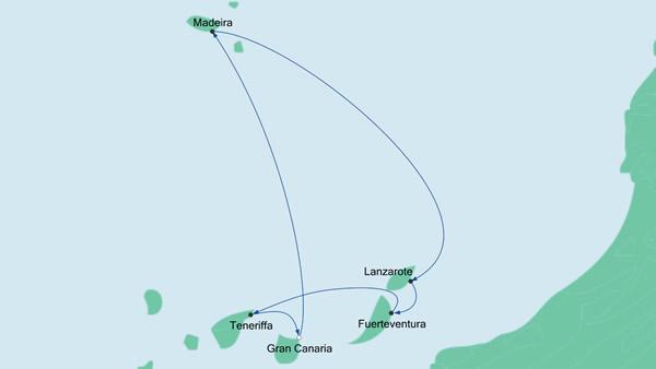 route kanaren5 aidablu 2015
