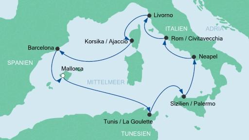 route mittelmeer3 aidablu 2015