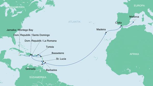 route transatlantic5 aidabella 2015