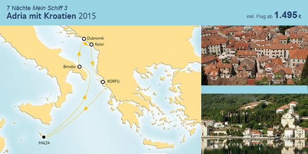 tui cruises adria mit kroatien 2015