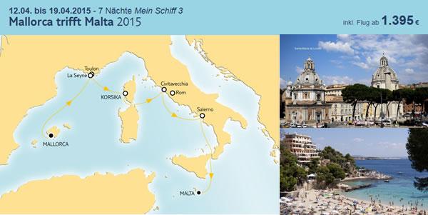 tui cruises mallorca trifft malta 2015