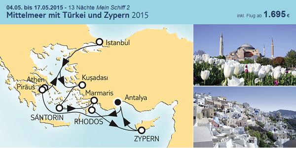 tui cruises mittelmeer mit tuerkei und zypern 2015