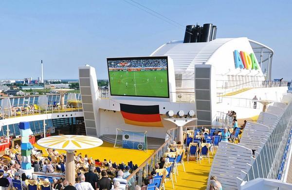 Fußballfieber auf AIDA Schiffen