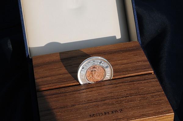 MS EUROPA - Kiellegung Münze