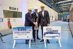 AIDA Cruises : Baustart für das weltweit erste LNG - Kreuzfahrtschiff auf der Meyer Werft in Papenburg
