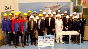 AIDA Cruises - Baustart des zweiten LNG-Kreuzfahrtschiffs