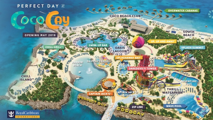 Perfect Day at CocoCay - Lageplan