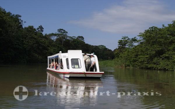 Bootsfahrt auf den Tortuguero Kanälen
