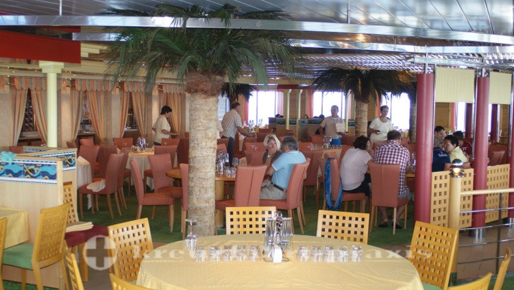 Guests in the market restaurant