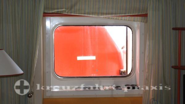 AIDAcara - Außenkabine mit Sichteinschränkung