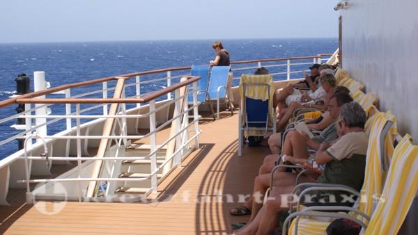 AIDAcara - Schattenplätze auf Deck 7