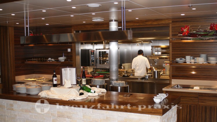 Show kitchen of the Buffalo Steak House