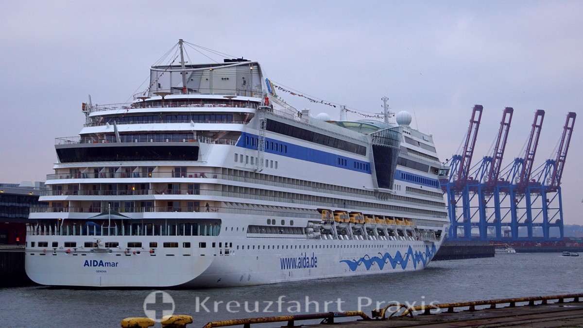 AIDAmar starts on week-long cruises from Hamburg