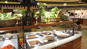 Buffet in the market restaurant