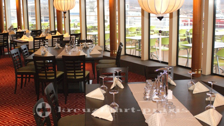 Side tables in the East Restaurant