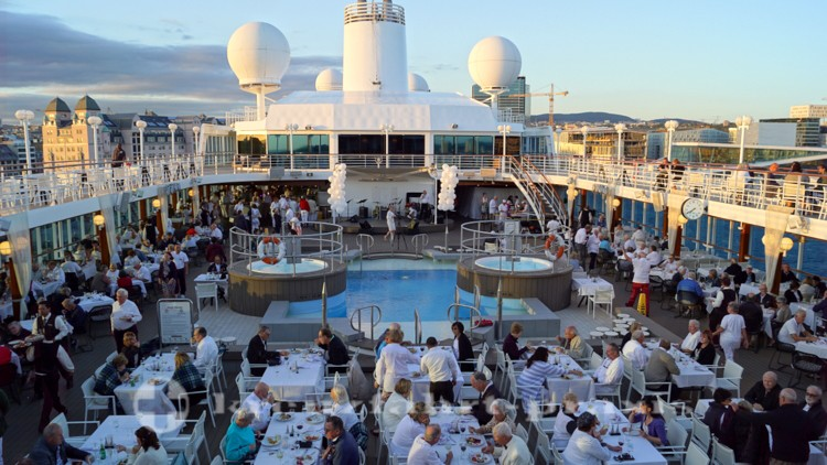 White Night an Bord der Azamara Journey in Oslo