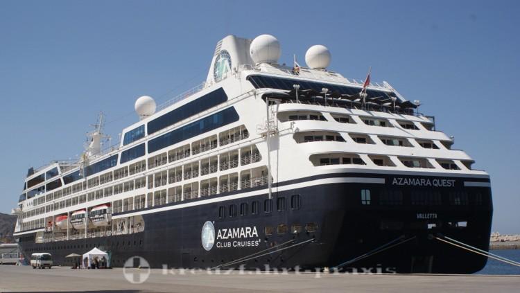Azamara Quest im Hafen von Maskat/Oman