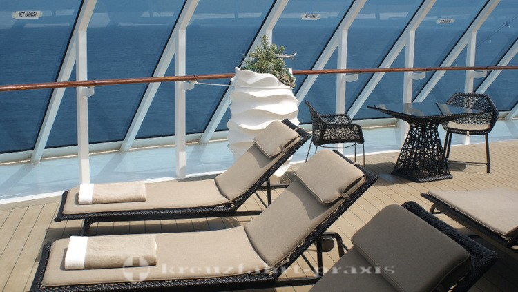 Azamara Quest - The Sanctum Spa-Terrasse