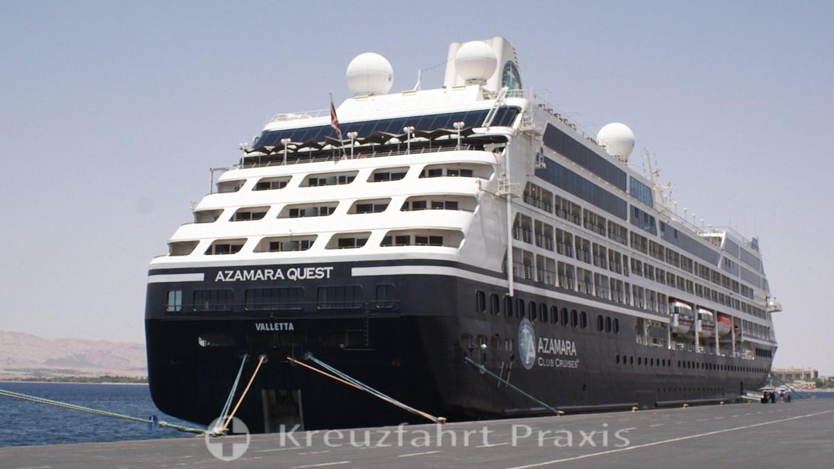 Azamara Quest in the port of Aqaba