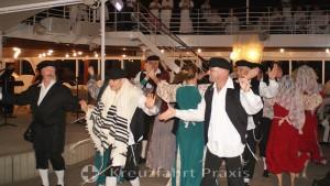 White Night in Haifa - accompanied by a folk dance group