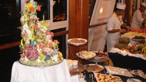 Sweet buffet for White Night