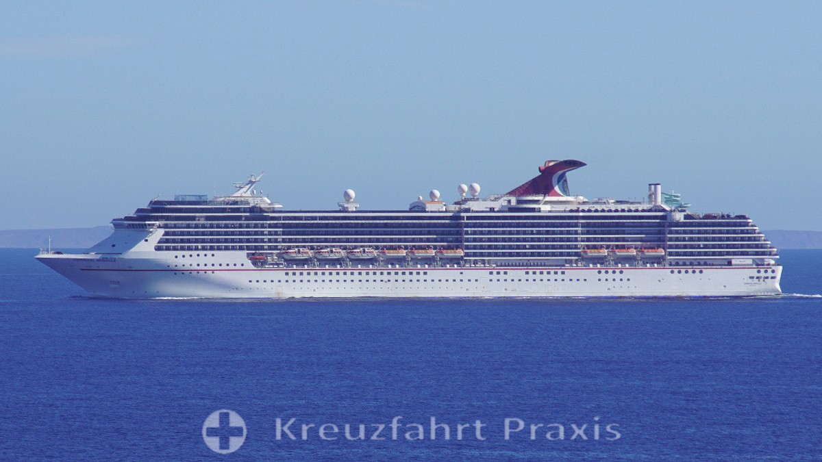 Carnival Miracle on the high seas
