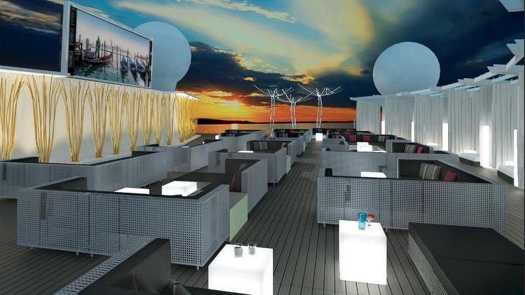 Celebrity Cruises - Rooftop - Entwurfszeichnung