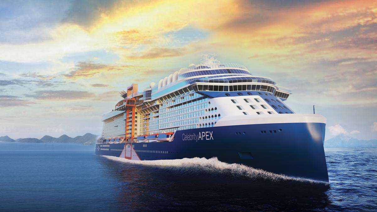 Celebrity Cruises - die neue Celebrity Apex kommt in Sichtweite