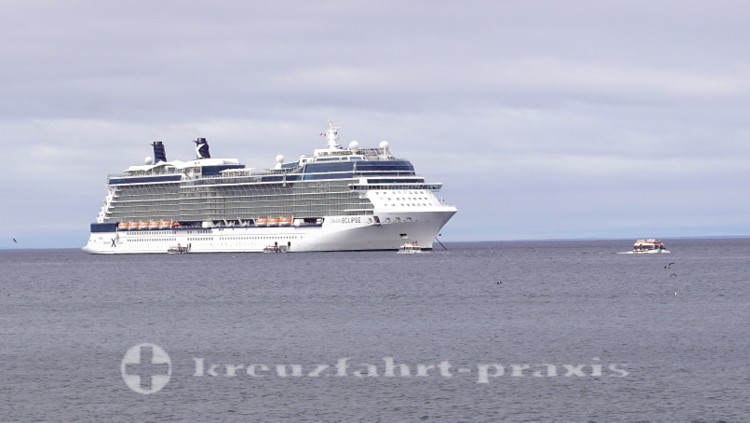 Celebrity Eclipse in front of Punta Arenas / Chile