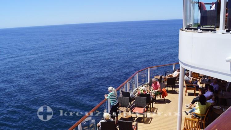 Außenterrasse des Oceanview Buffet-Restaurants