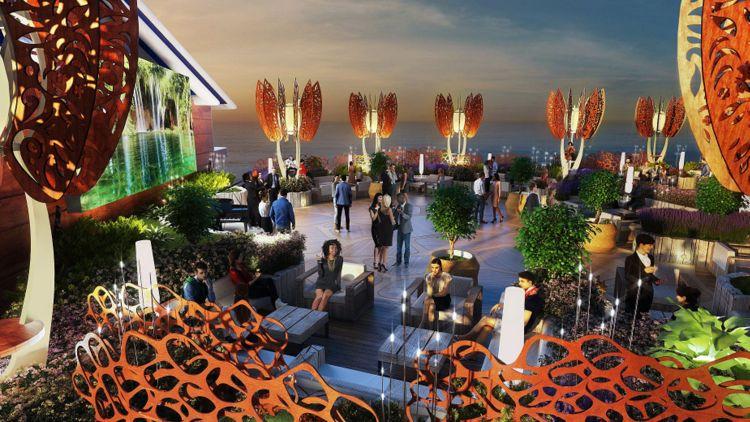 Celebrity Edge - Rooftop Garden bei Nacht