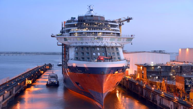 Celebrity Edge - Float Out bei STX France