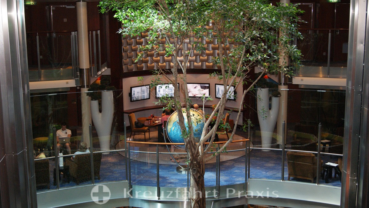 Celebrity Equinox - the on-board deciduous tree