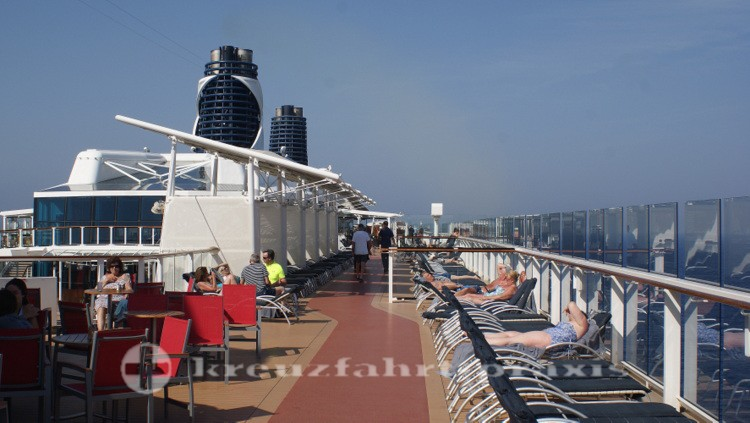 Celebrity Reflection - Sun deck with jogging course