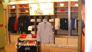 Celebrity Reflection - men's clothing in the store area