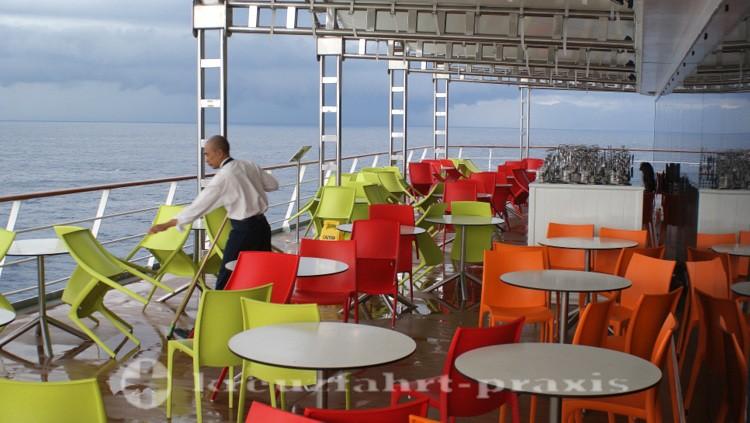 Außenbereich des Buffetrestaurants Vernazza
