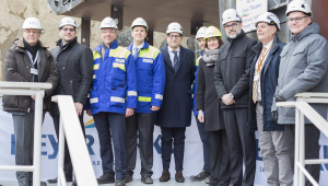 Keel laying of the Costa Toscana in Turku, Finland