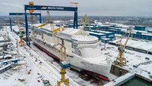 Cruise ship Costa Toscana floated in Turku
