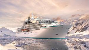 Christened Crystal Endeavor - an ice class luxury ship