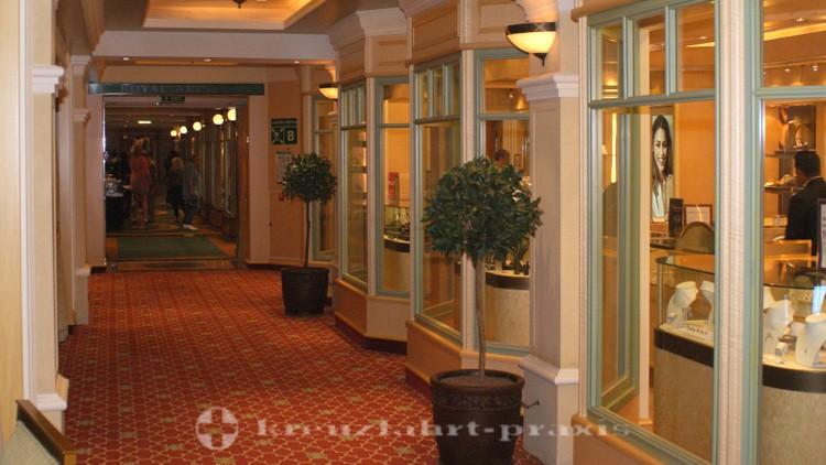 Cunard - Queen Victoria - Royal Arcade with shops