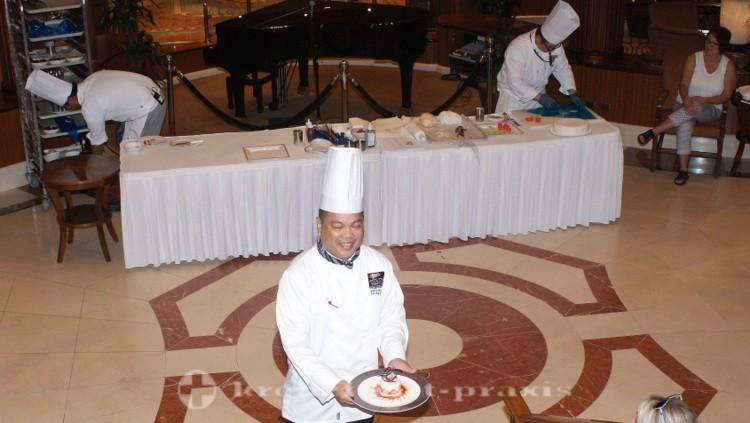 Cunard - Queen Victoria - Kitchen Presentation in the Grand Lobby