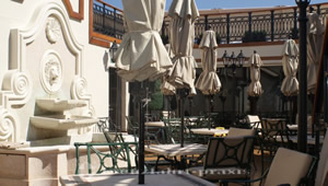 Courtyard of the Grill Lounge