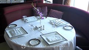 Table in the Verandah restaurant