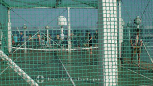 Paddle tennis cage