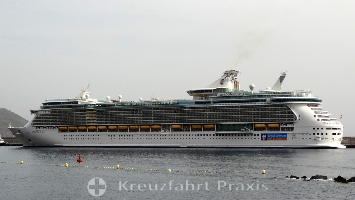 freedom of the seas in front of la palma