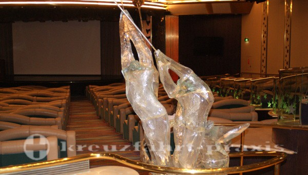 Legend of the Seas - glass sculpture in the theater