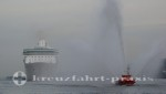 Legend of the Seas - Welcome by a fireboat